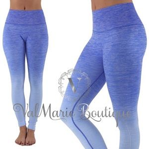 Blue gradient active yoga pant leggings